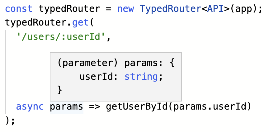 path parameters being inferred